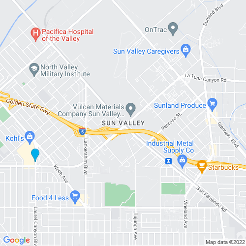 Map of Sun Valley, CA
