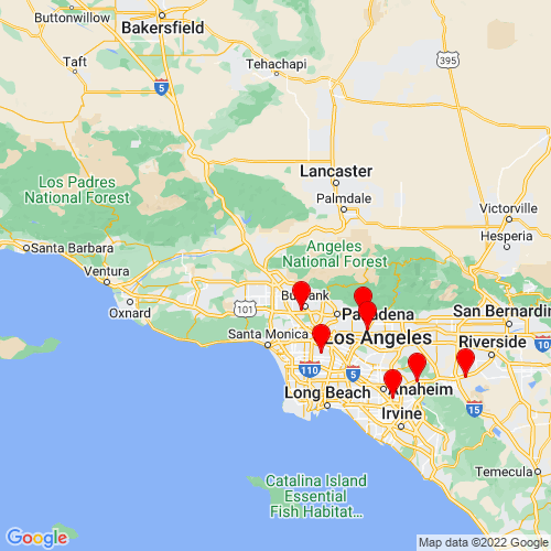 Map of Sylmar, CA