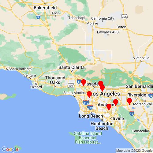 Map of Sylmar, CA