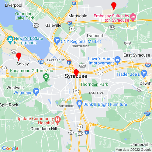 Map of Syracuse, NY