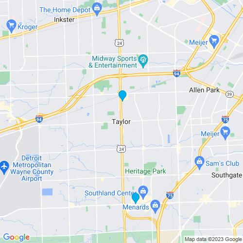 Map of Taylor, MI