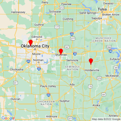 Map of Tecumseh, OK