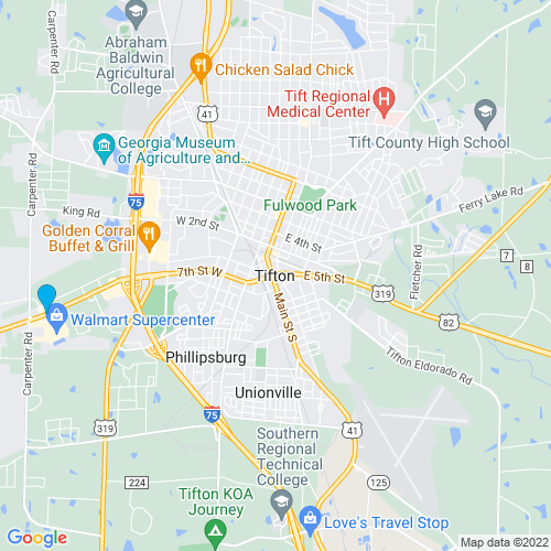 Map of Tifton, GA