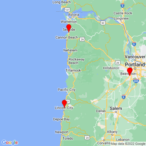 Map of Tillamook, OR