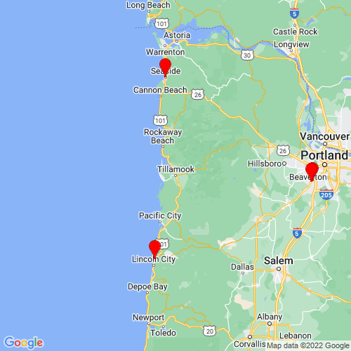 Map of Tillamook, OR