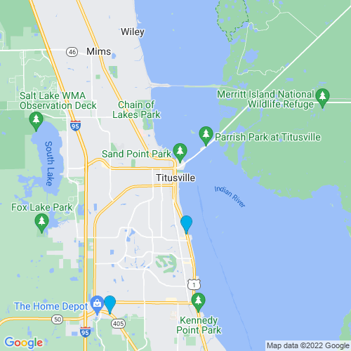 Map of Titusville, FL
