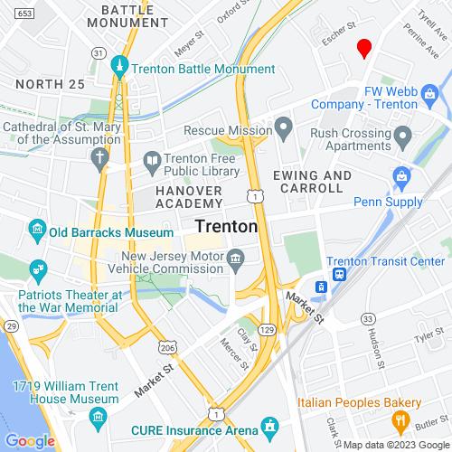 Map of Trenton, NJ