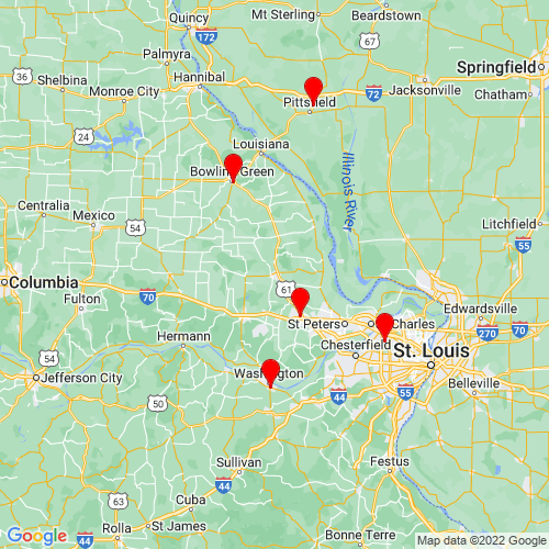 Map of Troy, MO