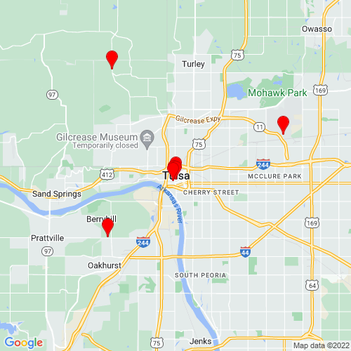Map of Tulsa, OK