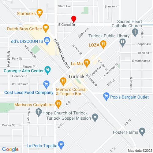 Map of Turlock, CA