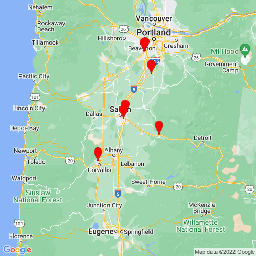 Map of Turner, OR