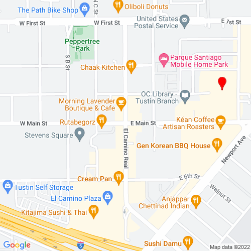 Map of Tustin, CA