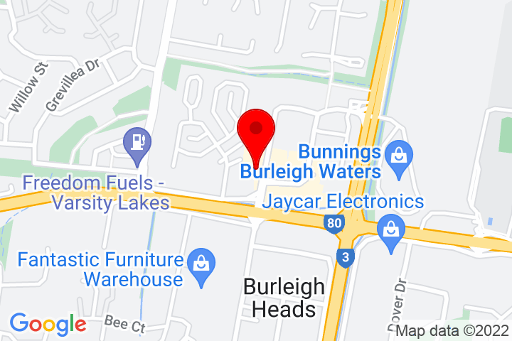 Map of Unit+2,+2+Executive+Drive,+Burleigh+Waters,+QLD+4220