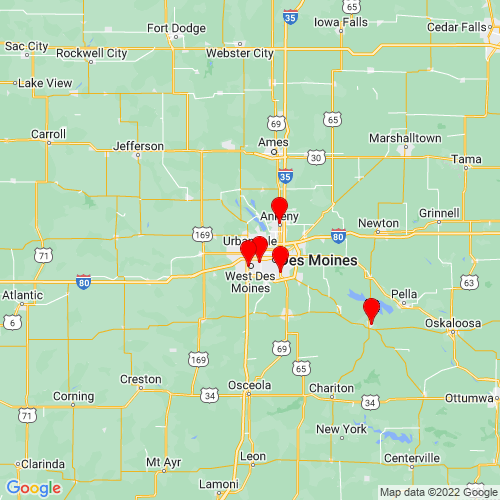 Map of Urbandale, IA