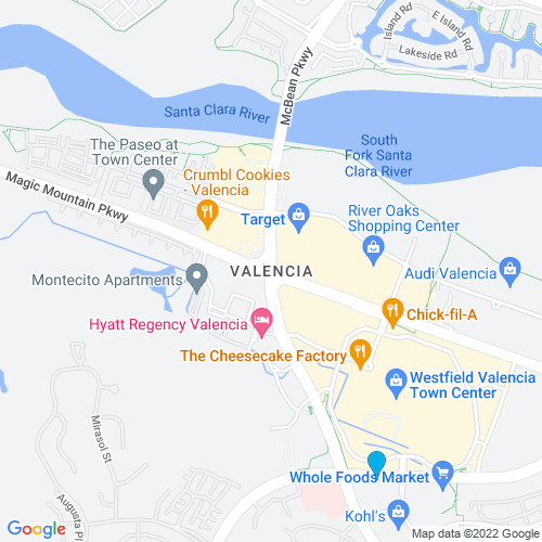 Map of Valencia, CA
