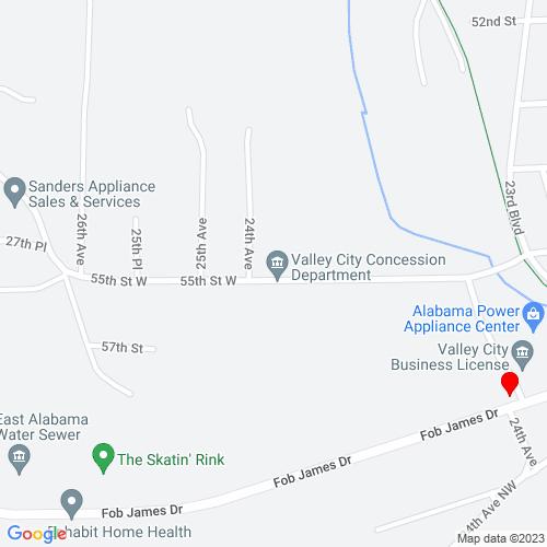 Map of Valley, AL