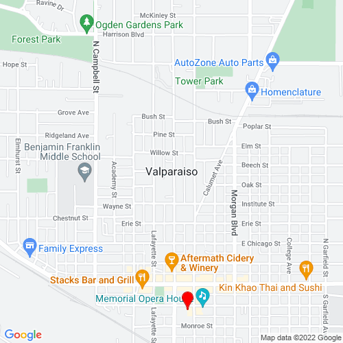 Map of Valparaiso, IN