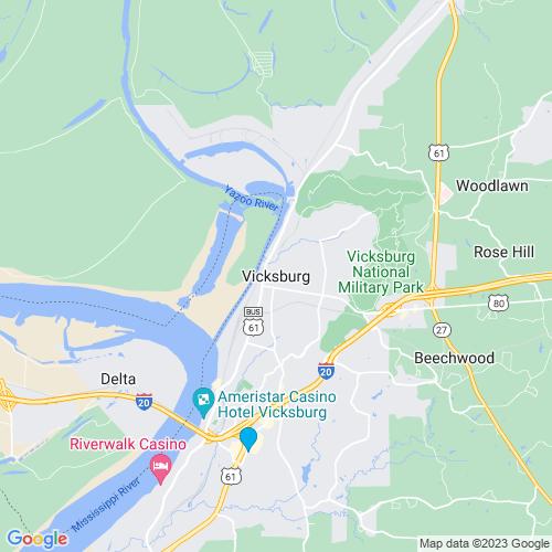 Map of Vicksburg, MS