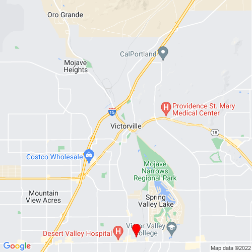 Map of Victorville, CA