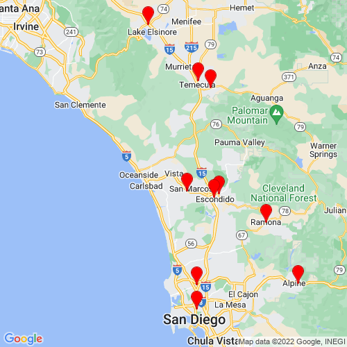 Map of Vista, CA