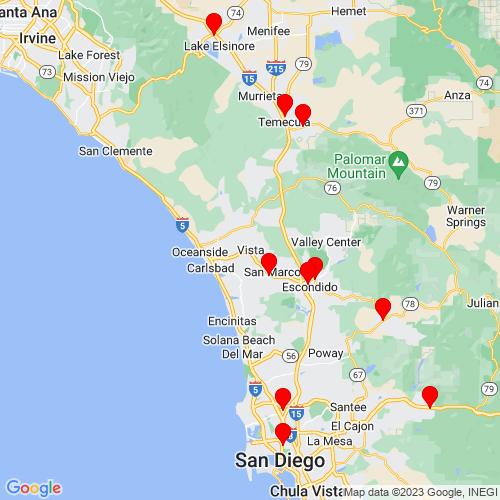 Map of Vista, CA