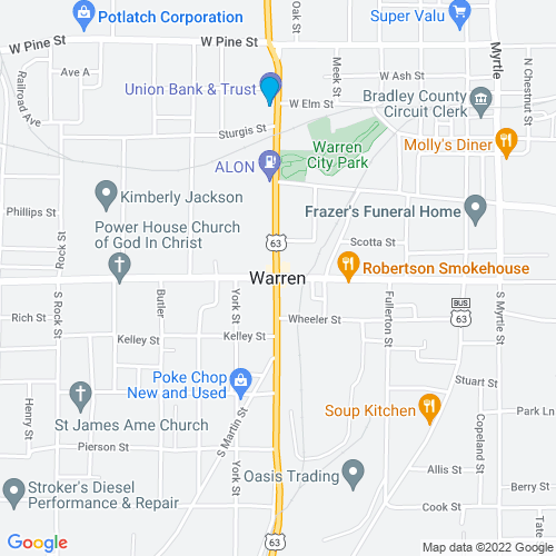 Map of Warren, AR