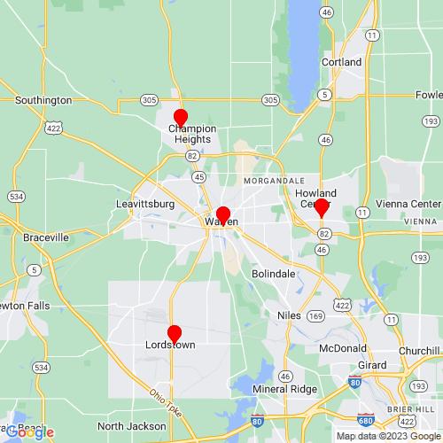 Map of Warren, OH