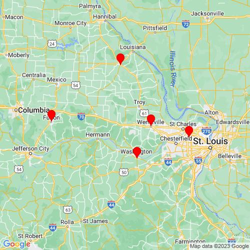 Map of Warrenton, MO