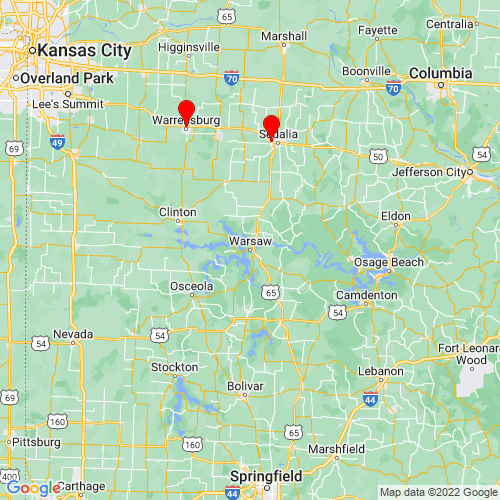 Map of Warsaw, MO