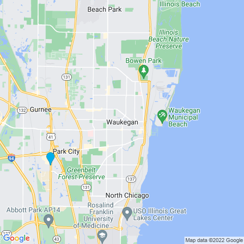 Map of Waukegan, IL