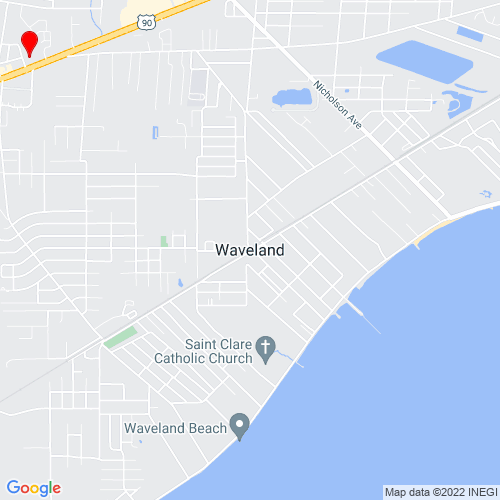Map of Waveland, MS