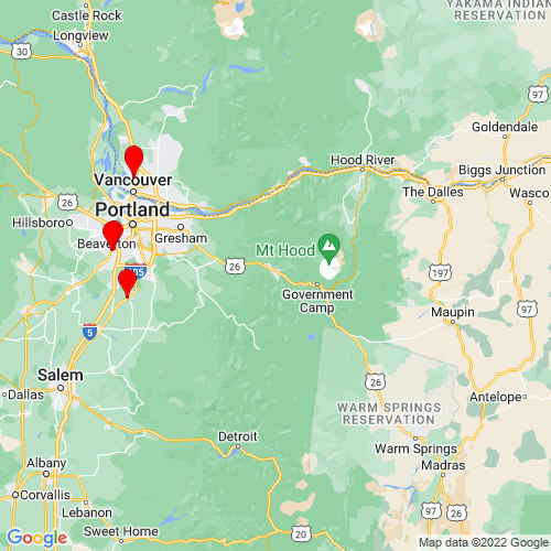 Map of Welches, OR