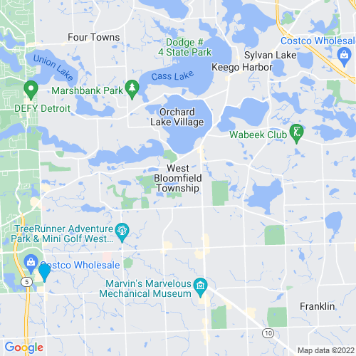 Map of West Bloomfield, MI