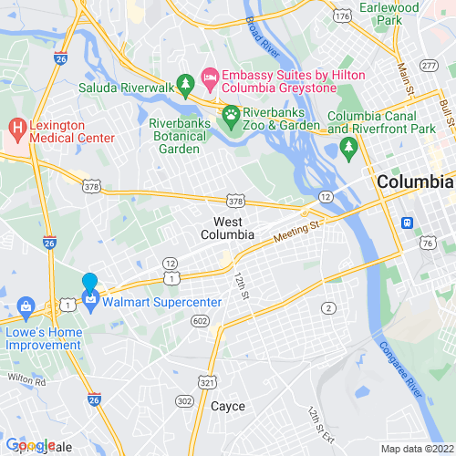 Map of West Columbia, SC