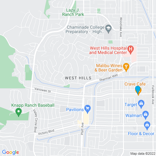Map of West Hills, CA
