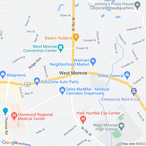 Map of West Monroe, LA