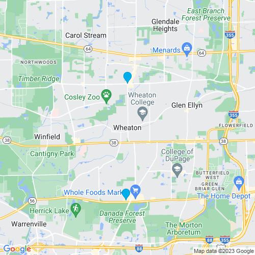 Map of Wheaton, IL
