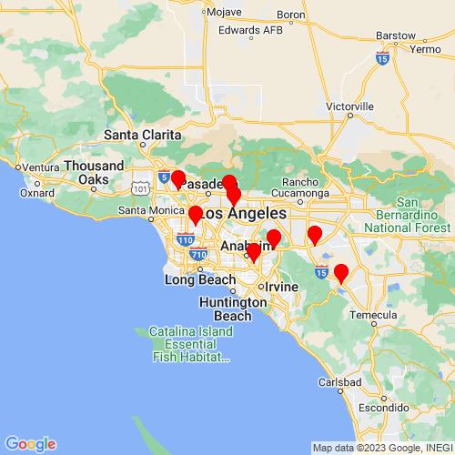 Map of Whittier, CA