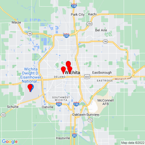 Map of Wichita, KS