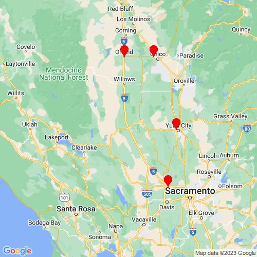 Map of Williams, CA