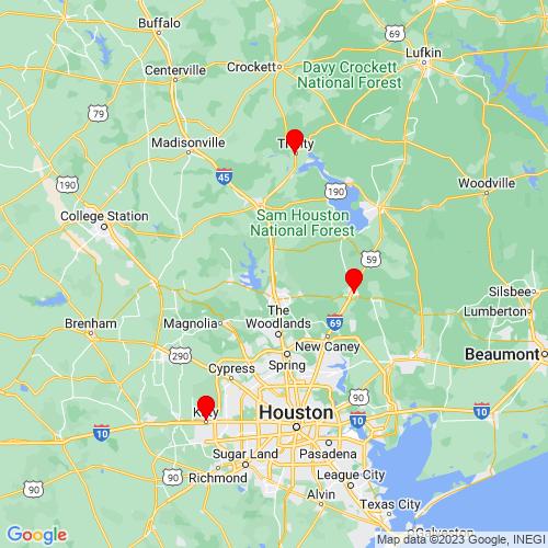 Map of Willis, TX