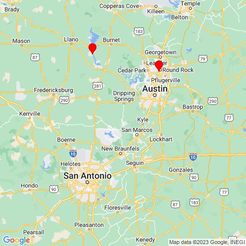 Map of Wimberley, TX