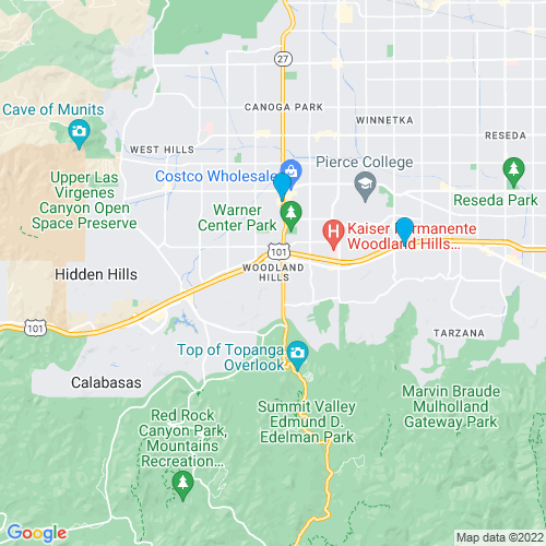 Map of Woodland Hills, CA
