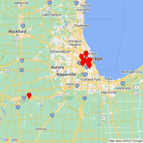 Map of Woodridge, IL