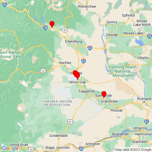 Map of Yakima, WA