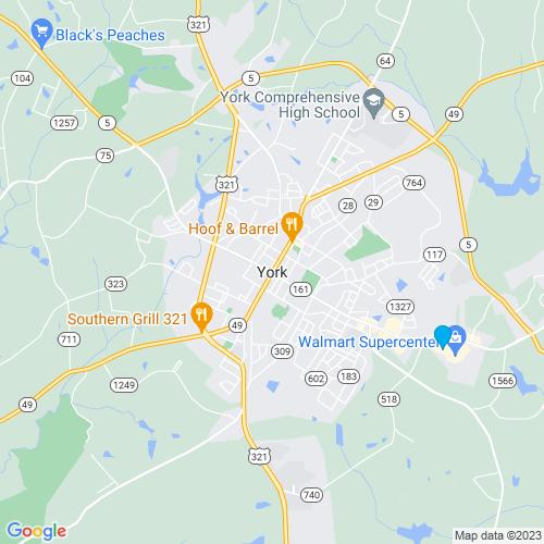Map of York, SC
