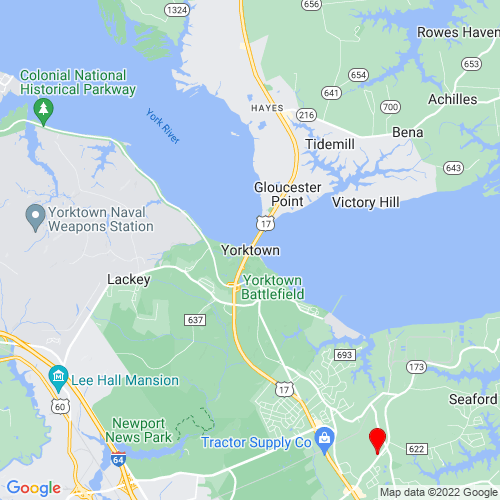 Map of Yorktown, VA