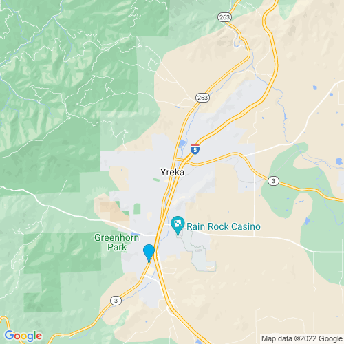Map of Yreka, CA