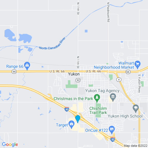 Map of Yukon, OK