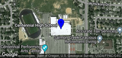 Google Map of Centennial High School, 12400 W McMillan Rd, Boise, ID 83713